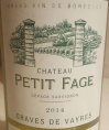 Chateau Petit Fage