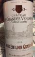 Château Les Grandes Versannes Cuvée Les Charmes