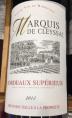 Marquis de Cleyssac - Bordeaux Supérieur