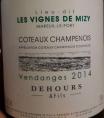 Coteaux Champenois Les Vignes de Mizy