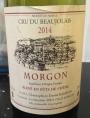 Cru du Beaujolais Morgon