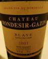 Château Mondésir-Gazin Blaye