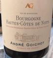 Bougogne Hautes-Côtes de Nuits