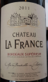 Château La France Bordeaux Supérieur
