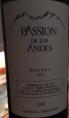 Passion de los Andes Malbec