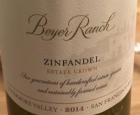 Beyer Ranch Zinfandel