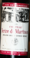 château Tertre de Martinon