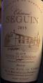 Château Seguin Blaye Côtes de Bordeaux Réserve