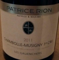 Chambolle-Musigny Premier Cru Les Gruenchers