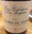 Les Garrigues d'Eric Beaumard Beaumes-de-Venise