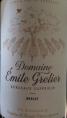 Domaine Emile Grelier Bordeaux Supérieur Merlot
