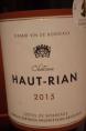 Château Haut-Rian Côtes de Bordeaux