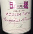 Beaujolais Nouveau Château Moulin Favre