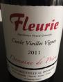 Fleurie Cuvée Vieilles Vignes