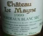 Château le Mayne Bordeaux Blanc Sec