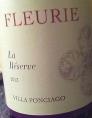 Fleurie La Réserve