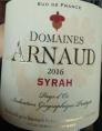Domaines Arnaud - Syrah