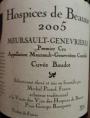 Hospices de Beaune - Meursault Genevrières Cuvée Baudot