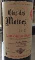 Clos des Moines Saint Emilion Grand Cru