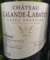 CHÂTEAU LALANDE LABATUT - Cuvée Prestige