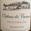 Château de Varennes Fûts de Chêne