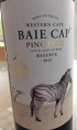 Baie Cap Pinotage Reserve