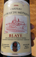 chateau la croix du Meynieux - Blaye