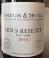 Ben's Reserve Pinot Noir