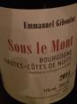 Bourgogne Hautes-Côtes de Nuits Sous le Mont