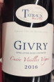 Givry Cuvée Vieilles Vignes